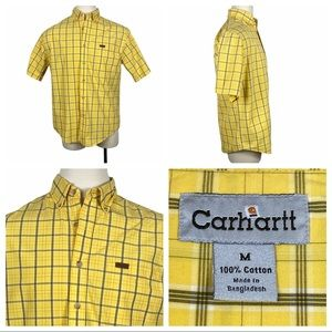 ExcCond Carhartt Short Sleeve Plaid Button Down Md